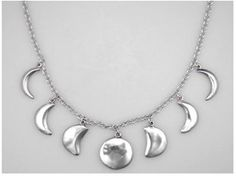 A Stunning Phases of the Moon Necklace in Sterling Silver - Rakuten