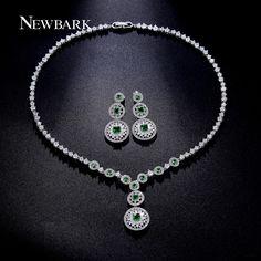 Find More Jewelry Sets Information about NEWBARK Luxury Emerald Zircon Wedding…
