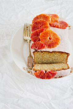 Why not top your next cake with blood orange slices that look like blooms?