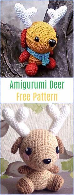 Crochet Amigurumi Deer Free Pattern - Crochet Amigurumi Deer Toy Softies Free Patterns
