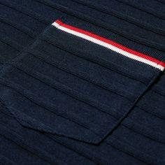 Thom Browne Long Sleeve Knitted Tee (Navy)