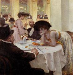 Josef Engelhart, Loge in Sophiensaal, 1903, oil on canvas, 100 x 95 cm, Vienna…