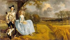 Gainsborough's Mr and Mrs Andrews (1748–49), in the National Gallery in London, depicts in the background the Suffolk landscape of his time.