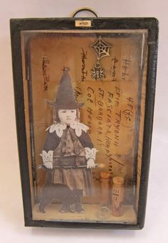 Little witch shadow box - altered art