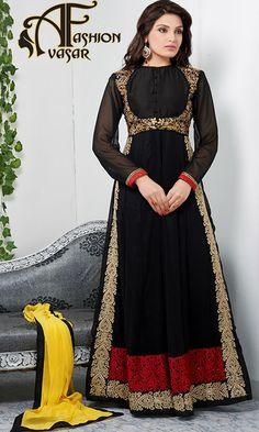 Flamboyant Black Salwar Kameez
