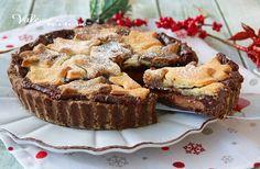 CROSTATA DI NATALE CON NUTELLA ricetta dolce, con nutella cremosa, un impasto friabile, facile , dolce delle feste di Natale