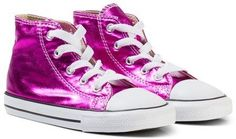 Converse Metallic Pink Chuck Taylor All Star Hi Tops Pink Chuck Taylors, Pink Converse, Metallic Pink, Converse Chuck Taylor, All Star, Trainers, High Top Sneakers, Classic, Collection
