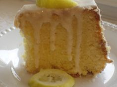 Marie's Lemon Lover's Pound Cake.. be sure and check out my friends blog that featured my recipe..