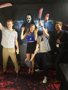 Will, Kieran, Noah & Emma Scream Show, Scream Cast, Scream Series, Mtv Scream, Scream Queens, Scary Movies, Horror Movies, Bex Taylor Klaus, Slasher Movies