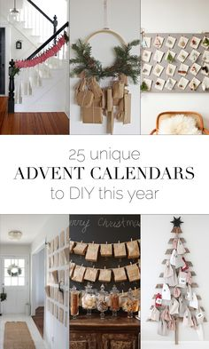 25 unique and easy advent calendars to DIY this year! Fromboxwoodavenue.com