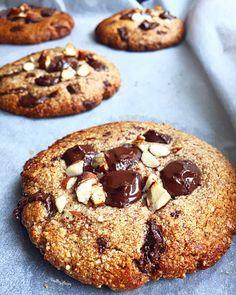 Brownie Cookies, Cupcake Cookies, Chocolate Chip Cookies, Cookies Sans Gluten, Cookies Light, Banana Brownies, Healthy Cookies, Cookies Et Biscuits, Cookie Recipes