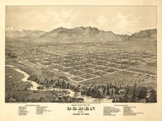 This is a vintage map obtained from the Library of Congress of Ogden, Utah as it appeared in 1875.