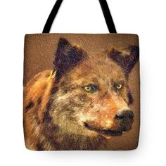 Leader of the Pack #wolf #totebag #animal #wildlife © David Millenheft 2016