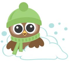 Winter Owls: Miss Kate Cuttables-- SVG scrapbook cut file cute clipart files for silhouette cricut pazzles free svgs free svg cuts cute cut files Winter Clipart, Owl Classroom, Paper Owls, Owl Cartoon, Ski, Owl Crafts, Cute Clipart, Cute Cuts, Scrapbook