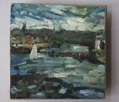 Boat at Tynemouth. Oil on board. 01/07/2007.