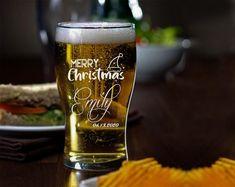 Christmas PUB GLASSES Glass For Christmas Custom Pub Glass image 2 Funny Wine Glasses, Wedding Wine Glasses, Custom Wine Glasses, Wedding Bottles, Wine Glass Designs, Decorated Wine Glasses, Wine Glass Crafts, Unique Logo, Choices