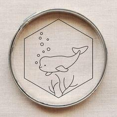 Free Beluga Embroidery Pattern // wild olive