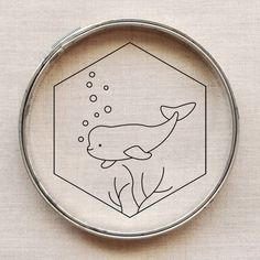 Free Beluga Embroidery Pattern // wild olive