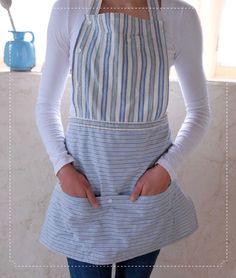 button-down apron