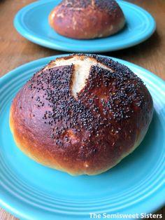 Poppy Seed Pretzel Buns Hamburger Buns