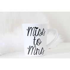 Miss to Mrs Coffee mug perfect for engagement pictures