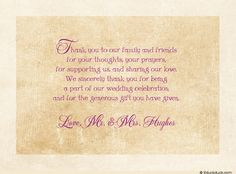 Imgenes de verses for wedding thank you cards bridal shower thank you verse thank you cards sayings for wedding m4hsunfo