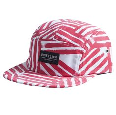 The Quiet Life - Painted Stripes 5 Panel White/Red
