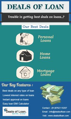 Deals of Loan offers best deals Personal Loans, Mortgage Loans, Home Loans etc.  Also, various offers for Salaried and Self employed individuals, and bad credit scorers.