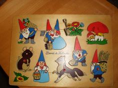 David the gnome  wooden puzzle by PurePopulus on Etsy, $10.00