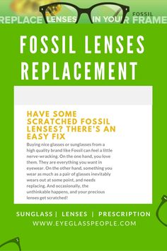 e26fd0c4fed Have Some Scratched Fossil Lenses  There s an Easy Fix.EyeGlassPeople.com  is a website that provides a service to those who need Fossil replacement  lenses
