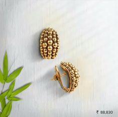 New Light Weight Daily Wear Gold Earrings Designs - Kurti Blouse Jewelry Design Earrings, Gold Earrings Designs, Gold Jewellery Design, Necklace Designs, Gold Jewelry, Bijoux Design, Gold Ring Designs, Simple Earrings, Jewelry Patterns