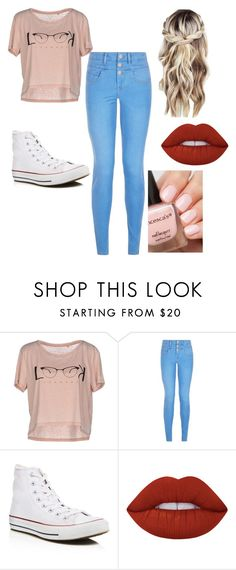 """"""".."""" by trinitymahomie on Polyvore featuring ONLY, New Look, Converse and Lime Crime"""