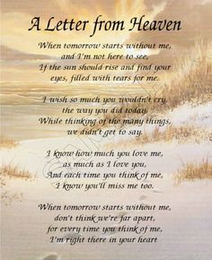 letter from heaven - Google Search