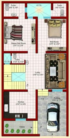 House plan for 32 feet by 40 feet plot plot size 142 35x60 house plans