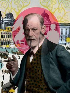 """LA VIDA… A PESAR DE TODO – ENTREVISTA A SIGMUND FREUD -   (...) """"El salvaje, como el animal, es cruel, pero no tiene la maldad del hombre civilizado. La maldad es la venganza del hombre contra la sociedad"""" - Sigmund Freud -   #SigmundFreud #psychoanalysis #popart #fanart #surreal #elartedeladistorsión #creemosenelasombro """"Freud"""" - Delphine Lebourgeois©"""