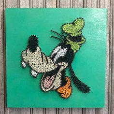 Disney String Art, Nail String Art, Art Disney, String Art Templates, String Art Patterns, Coffee Painting Canvas, Dot Painting, Crafts Fir Kids, Arts And Crafts