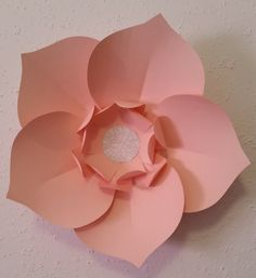 Paper Flower - Light Pink Wall Flower by ClosetFullofCrafts on Etsy