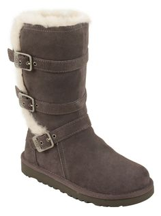 UGG® Australia Youth Maddi in Charcoal Stylish boots made for a budding fashionista!   #designerstudiostore
