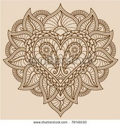 Paisley Heart Outline By Vector Ninja
