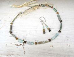 Une parure romantique tribale le collier et les par annemarietollet