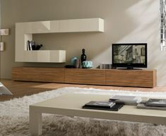 meuble TV bois blanc design                                                                                                                                                                                 Plus