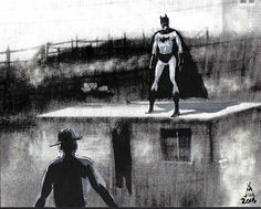 "post card painting "" I am Batman."" by #artist Vince Mancuso"