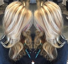 Summer blonde with natural lowlights