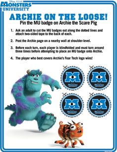 Page 1 of 2-- http://skgaleana.com/monsters-university-free-printables/