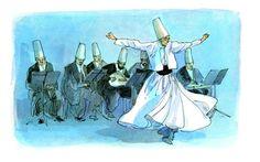 Les derviches tourneurs, François Place illustration