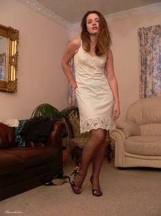 Satin Slip, Slip On, Sexy, White Dress, Summer Dresses, Fashion, Petticoats, Color Combinations, Women