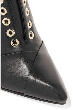 911290f8c8b Lanvin - Leather Wedge Ankle Boots - Black