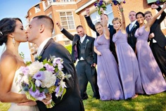 The front of the hotel provides the perfect backdrop for your wedding photos