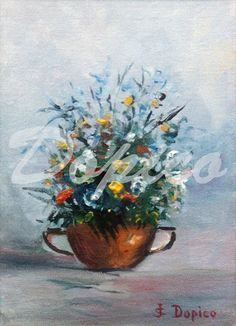 Bodegón de flores/Natureza morta de flores/Still life of flowers. Técnica/Technique: Óleo/Oil on canvas. Referencia/Referente/Reference: CUADROS0014.