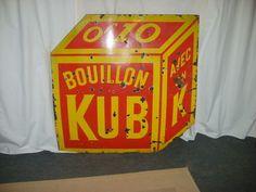 plaque emaillée bouillon KUB